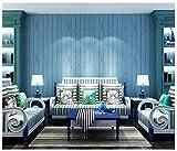 AIWQTO Streifen Sie Selbst haftende tapeten Vlies holzmaserung Einfachheit mediterranes Wohnzimmer Schlafzimmer TV Sofa Hintergrund tapeten-C 53x500cm(21x197inch)