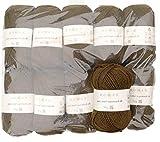 Rowan 500g Wollpaket, 10x50g Pure Wool Superwash dk, Fb. 110 - dust, Wolle zum Stricken und Häkeln, Wolle Paket Restposten