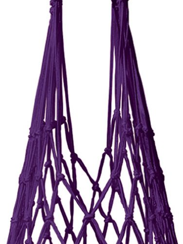Einkaufsbeutel handgeknüpft violett. Kulturbeutel