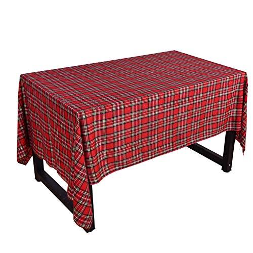 Mantel Navidad, Tela escocesa algodón doble cara