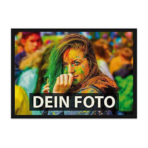 Fußmatte zum selbst Gestalten/mit eigenem Foto Bedrucken Lassen/Schmutzfang-Matte/Fuß-abtreter / 85 x 60 cm mit Gummirand