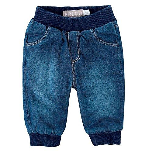 Baby Jungen Baumwoll-Hose in Jeansoptik gefüttert (62)