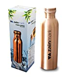 #7: Zainmark Pure Copper Water Bottle – 950ml Handmade Leak Proof & Joint Free for Ayurvedic Health Benefits, Sports, Gym, Yoga & Travel