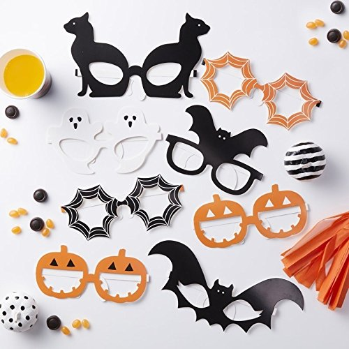 Ginger Ray Photo Booth Accessoires Pumpkin Party Halloween Brillen