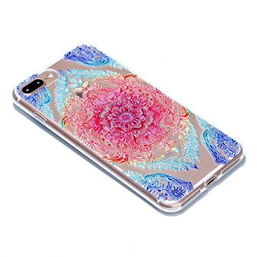 iphone 7 Plus Hülle,iphone 7 Plus Case,iphone 7 Plus Silikon Hülle [Kratzfeste, Scratch-Resistant], Cozy Hut iphone 7 Plus Hülle TPU Case Schutzhülle Silikon Crystal Kirstall Clear Case Durchsichtig,  Lace Blume