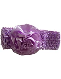 Needybee Purple Headband With Satin Flower Hair Accessories for Baby Girls