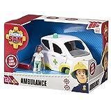 Fireman Sam - Coche de juguete Sam el bombero (3601) - Fireman Sam Ambulance Vehicle
