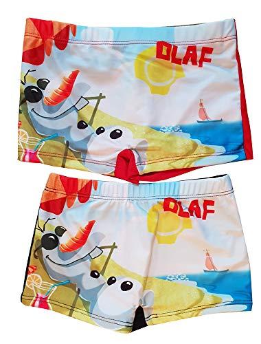 Frozen Die Eiskönigin - Costume da Bagno a Pantaloncini, da Bambino, 2 pz, Colore: Rosso/Blu Multicolore 6 Anni