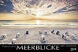 Meerblicke - Nord- und Ostsee 2018: Großer Foto-Wandkalender von der Küste und dem Meer in Deutschland. Edler schwarzer Hintergrund und Foliendeckblatt. PhotoArt Panorama Querformat: 58x39 cm. - Korsch Verlag