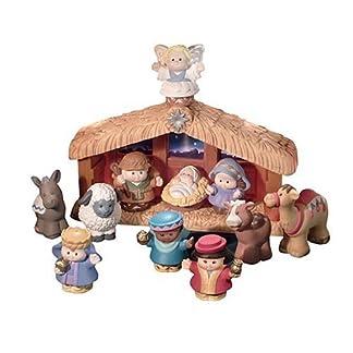 Fisher-Price – World of Little People Deluxe Christmas Story, Belén de Navidad (Mattel)