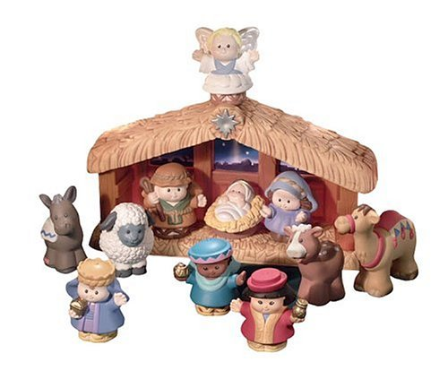 Fisher-Price - World of Little People Deluxe Christmas Story, Belén de Navidad (Mattel)