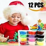 Infreecs knete Kinder, Kinderknete Springknete knete Set Hüpfknete für Kinder DIY Handgemachtes Lernen - 12 Farben