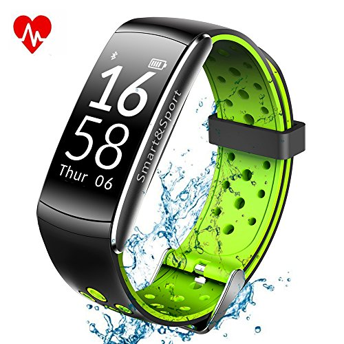 KOBWA Fitness Tracker, Activity Fitness Aktivitätstracker Pulsuhr Armband mit Schrittzähler / Schlafanalyse / Kalorienzähler / SMS Vibration Fitness Tracker für Android und IOS