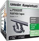 Rameder Komplettsatz, Anhängerkupplung abnehmbar + 13pol Elektrik für Peugeot Partner Tepee (113311-06738-2)