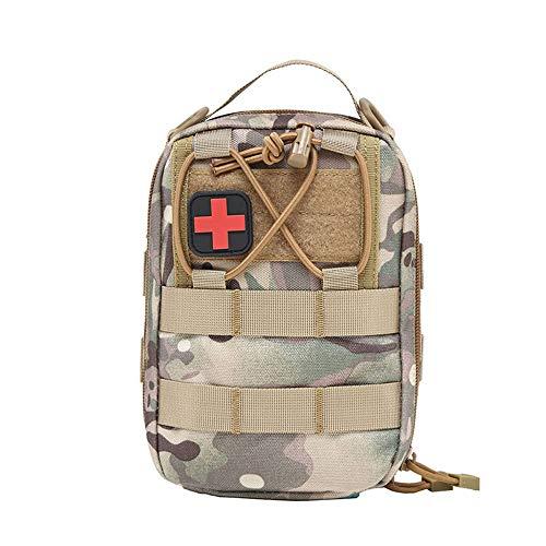 WM&LJP Tactical MOLLE EMT Pouch Medizinischer Beutel, Erste Hilfe IFAK Utility Pouch Airsoft Jagd EDC Med Bag 1000D Nylon (Nur Beutel),C