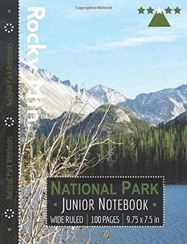 Rocky Mountain National Park Junior Notebook: Wide Ruled Adventure Notebook for Kids and Junior Rangers por National Park Notebooks