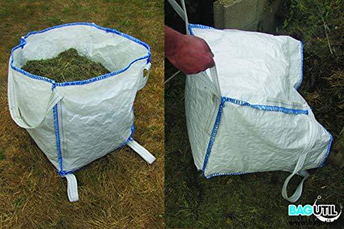 BAGUTIL Sac de Jardin 150 L - Jardisac résistant avec poignées, ramassage et Transport des déchets Verts de Jardin (Feuilles, Branches, Herbe par So Bag