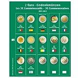 1 x SAFE 7341-12 / 2 EUROMÜNZEN Premium Vordruckblatt Nachtrag 2014 + 1x 7393 Ergänzungsblatt Münzhüllen für das SAFE 2 EURO Münzalbum 7341