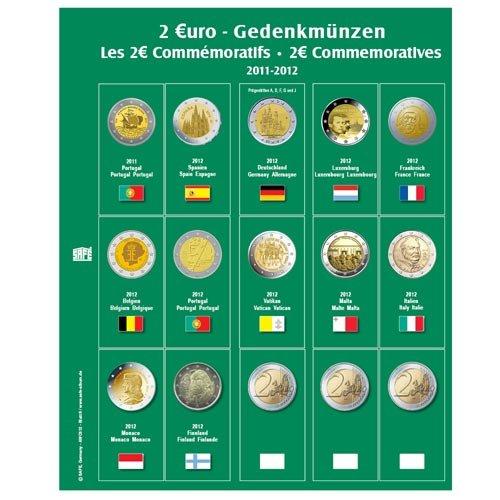 Preisvergleich Produktbild 1 x SAFE 7341-12 / 2 EUROMÜNZEN Premium Vordruckblatt Nachtrag 2014 + 1x 7393 Ergänzungsblatt Münzhüllen für das SAFE 2 EURO Münzalbum 7341