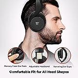TaoTronics Bluetooth Kopfhörer Over Ear Headset 25 Stunden Spielzeit, Einstellbar mit CVC 6.0 Geräuschunterdrückung-Mikro, Zusammenklappbares Design mit On-Ear-Steuerung