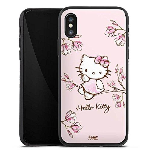 Apple iPhone 6 Silikon Hülle Case Schutzhülle Hello Kitty Merchandise Fanartikel Magnolia Silikon Case schwarz