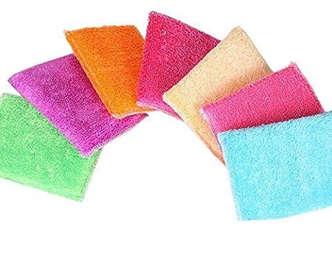 Inovey Lavage De Cuisine Coton Nettoyage Éponge Brosse Nettoyeur Cuisine Rouille Nettoyage Outil Gomme-Violet