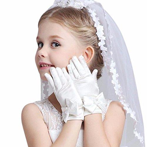 Handschuhe Hochzeit Säugling Baby Kind Mädchen Ellbogen Kurz Party