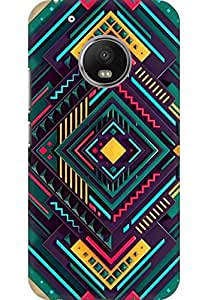 AMEZ designer printed 3d premium high quality back case cover for Moto G5 Plus (Hipster Colourful Pattern)