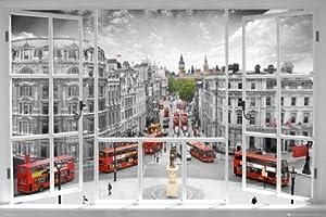 1art1 60254 Londres Poster Fenêtre sur Westminster Palace 91 x 61 cm