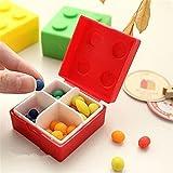 HENGSONG Portable 4 Gitter Pillen Box Organizer Medizin Aufbewahrungsbox Pillendosen