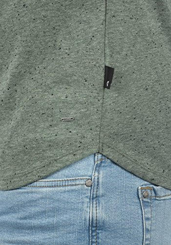 !Solid Thias Herren T-Shirt Kurzarm Shirt Rundhalsausschnitt Brusttasche Aus 100% Baumwolle Meliert Climb Ivy (3785)