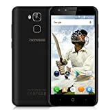 Doogee Y6 Unlocked 4G Smartphone, 5.5 Large Screen Android 6.0 MT6750 Octa Core 1.5GHz with 2GB RAM 16GB ROM Dual SIM Card Mobile Phone with 3200mAh Battery Fingerprint Quick Charge GPS WIFI OTA Bluetooth Smart Wake Gesture Sensing SIM-Free Smart Phone (Black)
