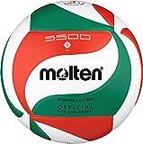 Top Wettspielball, Echtleder - Farbe: Weiß/Grün/Rot, Größe: 5