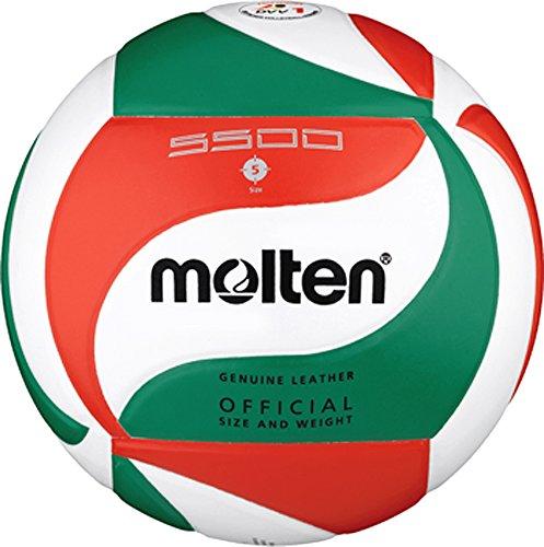 Preisvergleich Produktbild Top Wettspielball,  Echtleder - Farbe: Weiß / Grün / Rot,  Größe: 5