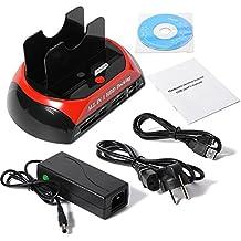 """XCSOURCE® All in One Estación de acoplamiento Dual USB 2.0 HDD para 2.5 """"3.5"""" SATA IDE Unidad de disco duro con lector de tarjetas Hub AC352"""