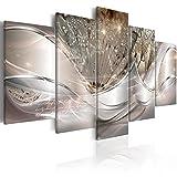 murando -Quadro Astratto Fiori 200x100 cm Stampa su Tela in TNT XXL Immagini Moderni Murale Fotografia Grafica Decorazione da Parete 5 Pezzi Soffione a-C-0087-b-n