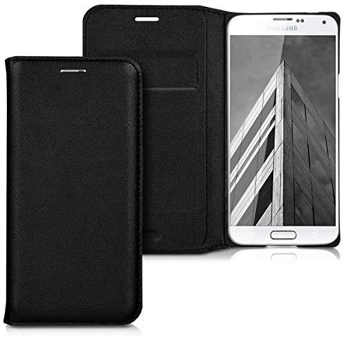 1x schickes und praktisches Flip Cover für Samsung Galaxy S5 Mini G800 in schwarz von kwmobile Mini-flip-cover