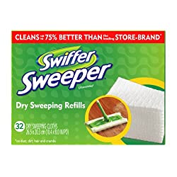 Swiffer Sweeper Dry Cloth Unscented Refill, 32-Count