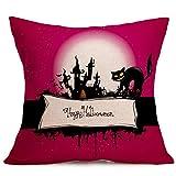 VEMOW Meistverkaufte Happy Halloween Kissenbezüge Leinen Sofa Kissenbezug Home Decor Party Dekoration 18