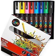 Posca PC-5M-Juego de 8 rotuladores de diferentes colores - En caja de regalo