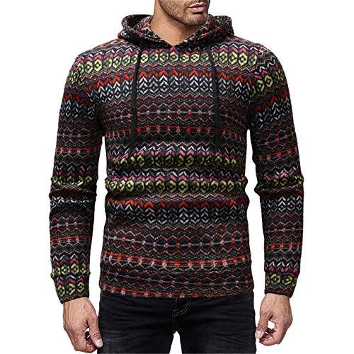 Legogo Herren Mit Kapuze Langärmelige Herbst und Winter Mode Sweatershirt(M,Coffee)