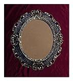 Lnxp BILDERRAHMEN Antik Barock in der Farbe: Schwarz/Gold Dualcolor 45x38 cm Oval REPRO Bilder für 28x22 cm Oder 22x28 cm BAROCKRAHMEN Bilder DEKO