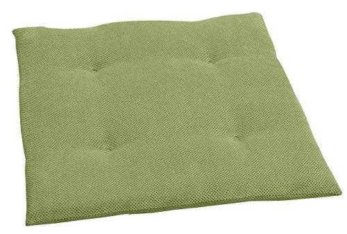 Coussin de chaise Sun Garden Johnny - 40 x 40 x 3 cm 4er Pack vert