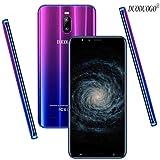 DUODUOGO J6 Plus, Móviles libres baratos 4g (Pantalla 6.0' 18:9 HD Dual Sim 4800mAh 2GB RAM + 16GB ROM Cámara 8MP Face Unlock Smartphone Android 7.0 Móviles y Smartphones Libres (Gradiente Azul)