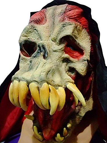 oween Halloween Party Party Stützen Tote Reißzähne Alien Dämonen Monster Schädel Latex Masken ()