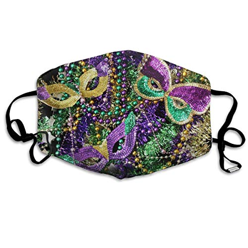 WBinHua Masken für Erwachsene, Mask Face, Mouth Mask, Breathable Mask Anti Dust, Adjustable Mouth Masks for Dust, Unisex Mardi Gras Face Mask for Men ()