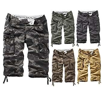 Surplus Homme Trooper Legend 3/4 Shorts, black washed S
