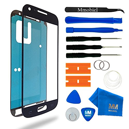MMOBIEL Front Glas Reparatur Set kompatibel mit Samsung Galaxy S4 Mini i9190 i9195 (Schwarz) Display mit Werkzeug-Set