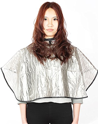 Short Salon Barbers All-purpose Cape, Waterproof Coloring Cape with Velcro Closure (Pack of 1)