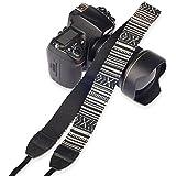 BlueBeach® coton de haute qualité universelle réglable Appareil photo Caméscope épaule cou sangle avec harnais adaptateur et extrémités en cuir. Les conceptions incluent Vintage, Art Tribal, pois, Diamond motifs, Imprimer. Convient caméra, caméscope ou appareil photo reflex numérique compact marques telles que Nikon Canon Panasonic Sony Samsung Olymplus Fujifilm. La conception vous obtenez est (DESIGN 206)